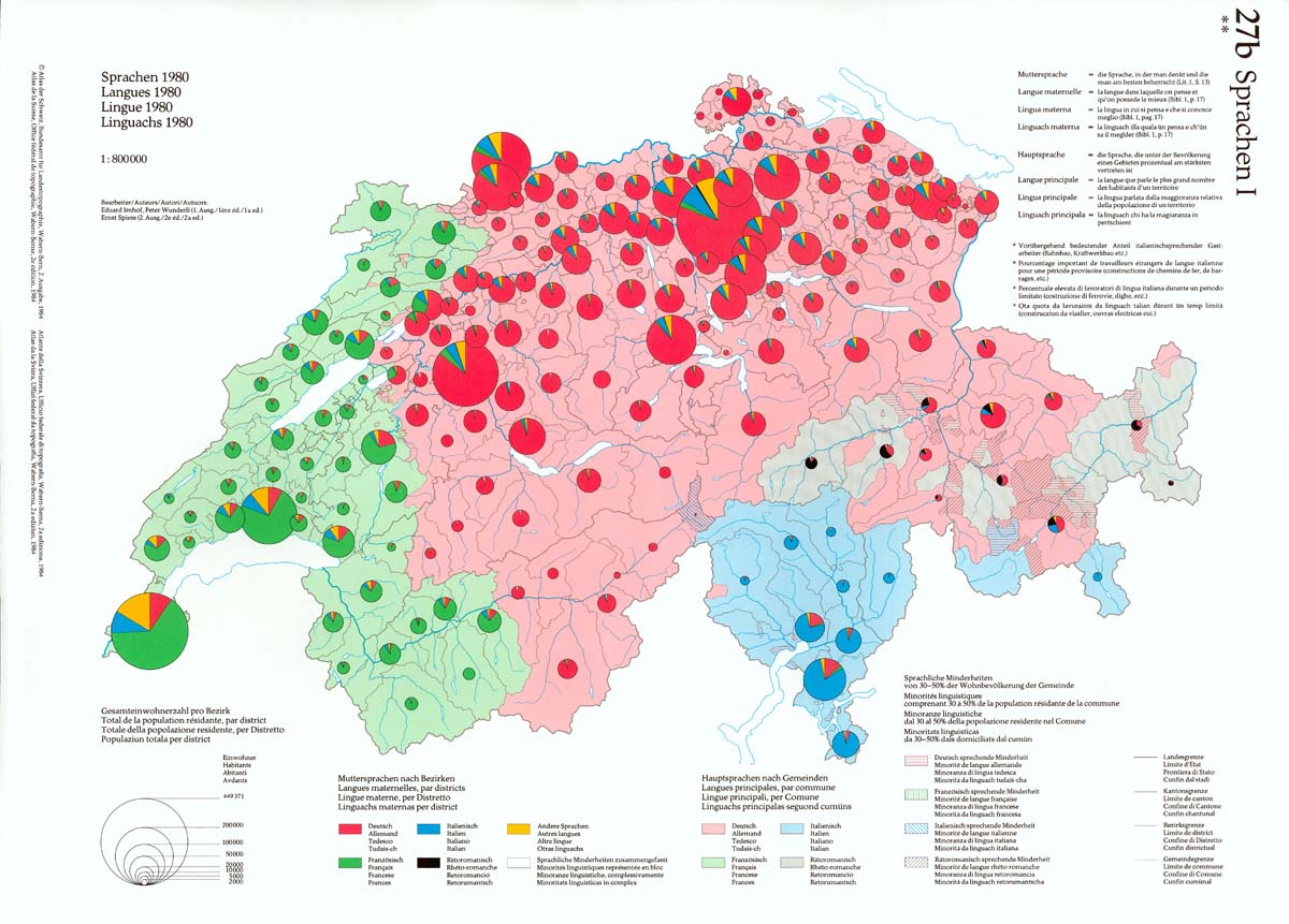 Mother Tongue Of People In Switzerland 1200x861 Mapporn
